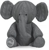 Jollein Cable - Knuffel Olifant - Grijs