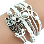 Fako Bijoux® - Multi Armband - Uiltje Hart Infinity - Wit