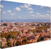 Uitzicht op Rome Canvas 60x40 cm - Foto print op Canvas schilderij (Wanddecoratie woonkamer / slaapkamer) / Steden Canvas Schilderijen