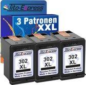 PlatinumSerie® 3 cartridges 302 alternatief voor HP XL black