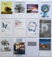 Rouwkaarten - Condoleance Kaarten -  Set van 10 + 2 EXTRA--L-043