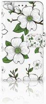 Motorola Moto E4 Plus Boekhoesje Design Dogwood Flowers