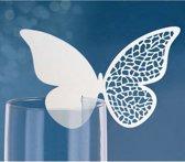Naamkaartje vlinder voor glas