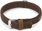 Beeztees Buffalo - Hondenhalsband - Leer - Bruin - 38.5 - 44.5 cm x 30 mm