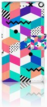 Sony Xperia Z Boekhoesje Design Blocks Colorful