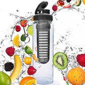 #DoYourFitness - Fruitwater fles - »FruitInfusior« - Fruit infuser voor fruitpunches / groente spritzers - 800ml - zwart