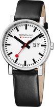 Mondaine A627.30303.11SBB Horloge - Leer - Zwart - 40 mm