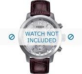 Horlogeband Tissot T055.417.A PRC 200 / T610032785 Croco leder Bruin 19mm