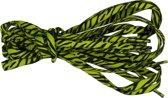 4 Schoenveters Tijger Print 90cm Lang 5mm Breed - Groen & Zwart