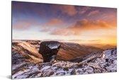 Kleurrijke lucht boven het Engelse Nationaal park Peak District Aluminium 60x40 cm - Foto print op Aluminium (metaal wanddecoratie)