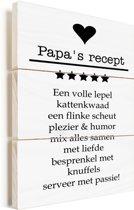 Cadeau met tekst voor vader - Papa's recept Vurenhout met planken 20x30 cm