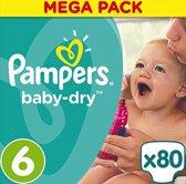 Pampers Baby-Dry - Maat 6 (Extra Large) 13-18 kg - 80 Stuks - Luiers