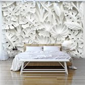 Fotobehang - Witte tuin, Wit
