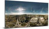Panorama van de grote stad Belo Horizonte in Zuid-Amerika Aluminium 80x40 cm - Foto print op Aluminium (metaal wanddecoratie)