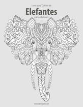 Livro para Colorir de Elefantes para Adultos 2