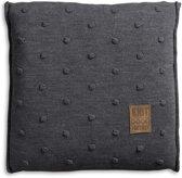 Knit Factory Noa - Kussen - 50x50 cm - Antraciet