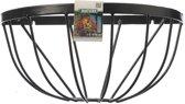 Hanging basket - Muurkorf - Smeedijzer-  Zwart -   H19 x een  halve cirkel  dia. 40cm