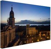 Havana in de avond  Canvas 180x120 cm - Foto print op Canvas schilderij (Wanddecoratie woonkamer / slaapkamer) XXL / Groot formaat!