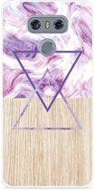 LG G6 Hoesje Color Paint Wood Art