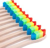 Bamboe Tandenborstel - Regenboog kleuren - 10 Stuks - Zacht / Medium