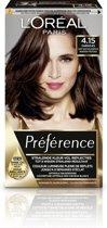L'Oréal Paris Préférence 4.15 - Diep Kastanjebruin - Haarverf met Color extender