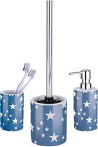 WENKO keramische badkamerset Stella, wc-borstelgarnituur, beker en zeeppompje