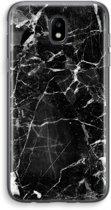 Samsung Galaxy J5 (2017) Transparant Hoesje (Soft) - Zwart Marmer 2