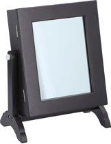 Touch Of Beauty Sieradenstandaard - kastje met spiegel - 21 x 12 x 25 cm - zwart