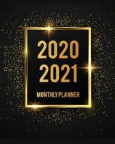 2020-2021 Monthly Planner: Black Cover 2 Year Monthly Planner Calendar Schedule Organizer January 2020 to December 2021 (24 Months) With Holidays