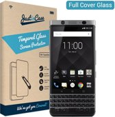 Just in Case Full Cover Tempered Glass BlackBerry KEYone Protector - Black