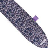 YuYu warmwaterkruik (hot water bottle) - donkerblauw - roze