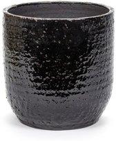 Serax Bloempot-Sierpot Regular Border Black  Zwart-Bruin D  30 cm H 30 cm
