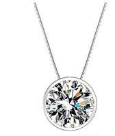 Fate Jewellery Ketting FJ404 - Clear - 45cm - Zilverkleurig met zirkonia kristal