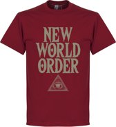 New World Order T-Shirt - Rood - S