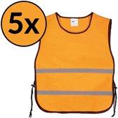 veiligheidshesje - veiligheidsvest - hesjes - oranje 5x