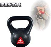 Iron Gym Kettlebell 4 kg Gewichten - Thuis sporten - Fitness