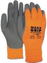Maxx Grip winter foam handschoen oranje/grijs, 1paar, maat 9