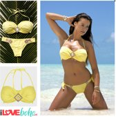 BOHO Bikini Top - Ibiza - The Bohemian - Yellow - Geel - S - Cup AA