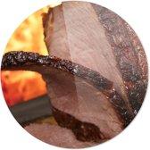 Vlees | Wanddecoratie | Ronde Plexiglas | 100CM x 100CM | Schilderij | Foto op plexiglas