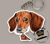 Sleutelhanger Hond Teckel