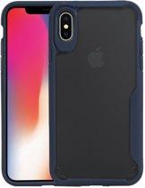 Focus Transparant Hard Cases voor iPhone X / XS Navy