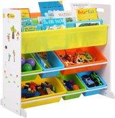 Multifunctioneel Kinderkamer Opbergrek - Kinder Organizer Rek Opbergkast - Opberg Kast Met 6 Uitneembare Opslagbakken - Voor Speelgoed & Boeken Opbergen - Multi Color