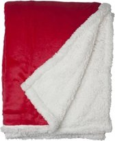 Snoozing Uni fleece plaid Red 150x200 cm
