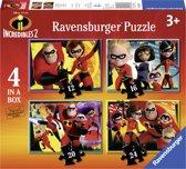 Ravensburger Incredibles 2 - 12+16+20+24 stukjes - kinderpuzzel