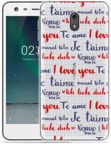 Nokia 2 Hoesje I Love you