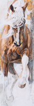 Horka Wenskaart Wit-bruin Paard 12,5 X 18 Cm