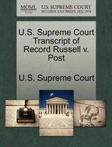 U.S. Supreme Court Transcript of Record Russell V. Post