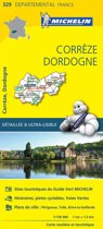Correze / dordogne 11329 carte ' local ' ( France ) michelin kaart