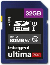 Integral 32GB SDHC UltimaPro 32GB SDHC UHS-I Class 10 flashgeheugen