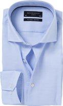 Licht Blauw Basket weave Michaelis shirt 39